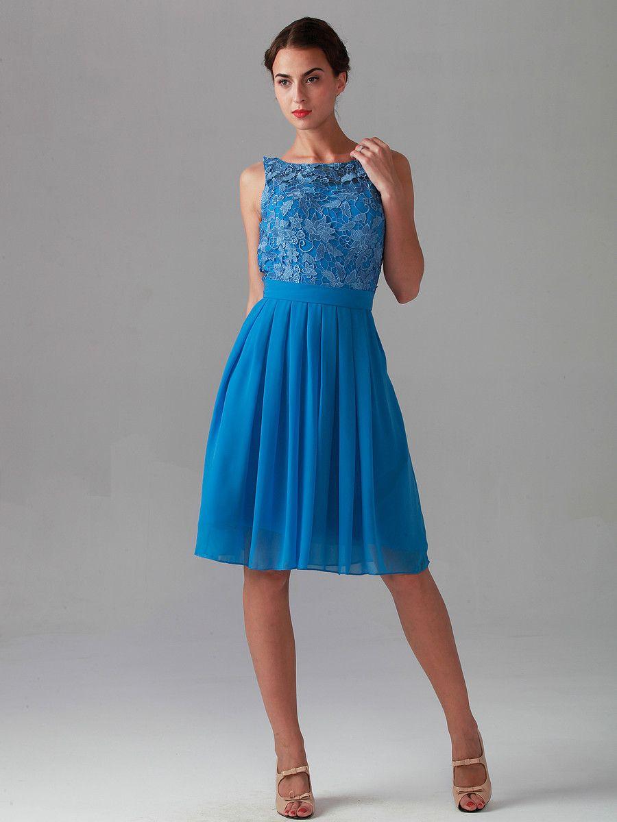 d63bea71ea327 Lace Bodice Chiffon Dress; Color: Blue Topaz; Sizes Available: 2-26W,  Custom Size; Fabric: Lace, Chiffon