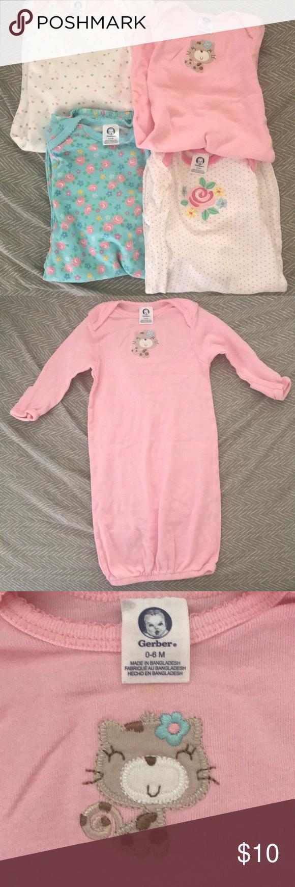 Gerber Baby Gown 4 Pack | My Posh Closet | Pinterest | Gerber baby ...