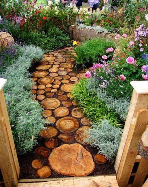 Garden Ideas With Wood curvy wooden walkway 35 Creative Backyard Designs Adding Interest To Landscaping Ideas
