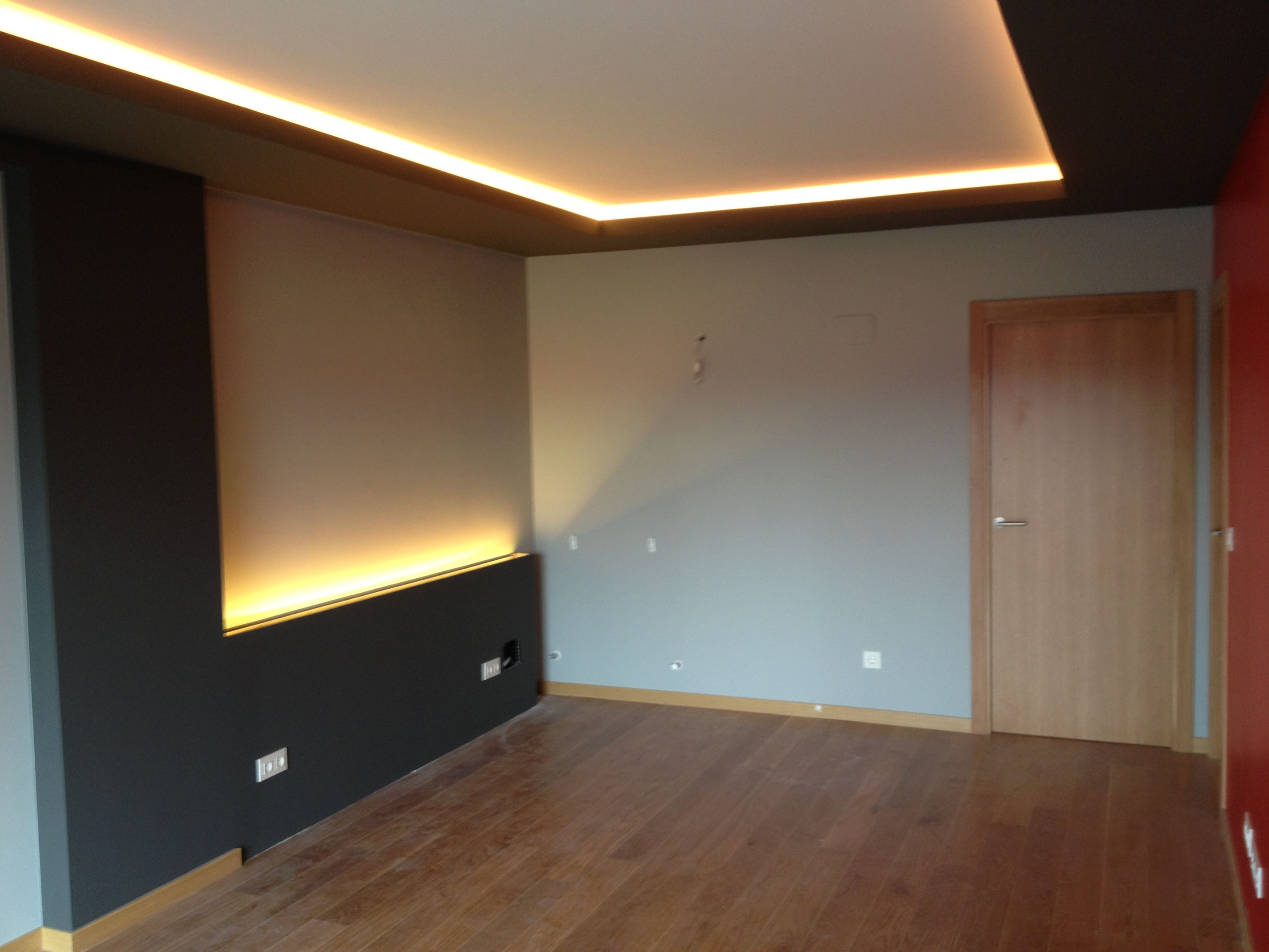 Iluminaci n tiras de led decoraci n del hogar pinterest false ceiling ideas salons and - Ideas iluminacion salon ...