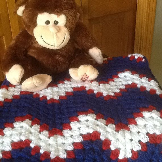 Patriotic blanket, colors of NY Giants, Buffalo Bills, Houston ...