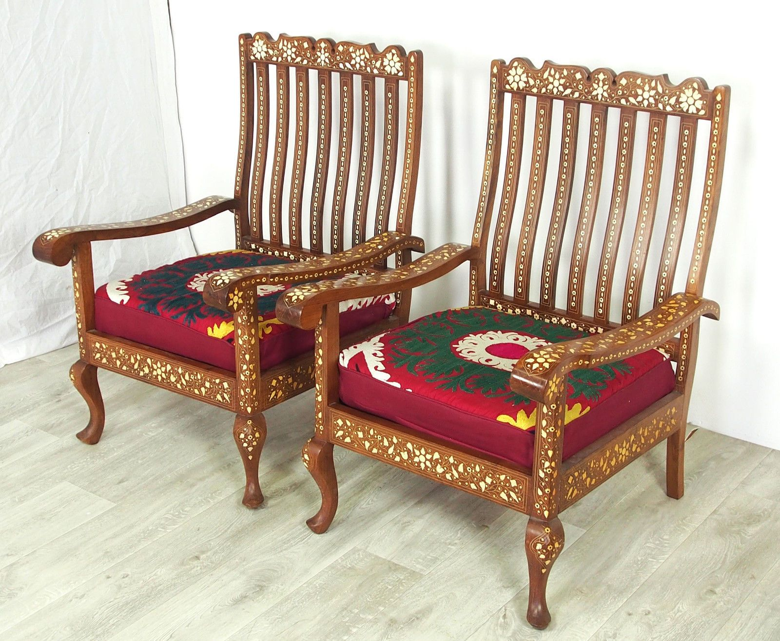 Ebay Sessel Antik Antik 3 Teilige Indian Anglo Couch Garnitur Sofagarnitur Sessel