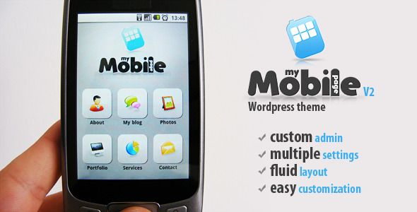 My Mobile Page V2 Wordpress Theme top 3 of 5 theme | Wordpress ...