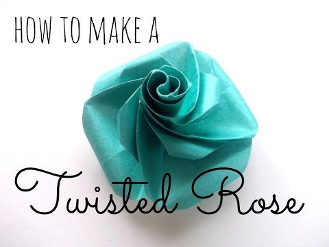 Simple Origami Twisted Rose Youtube Paper Flowers Pinterest