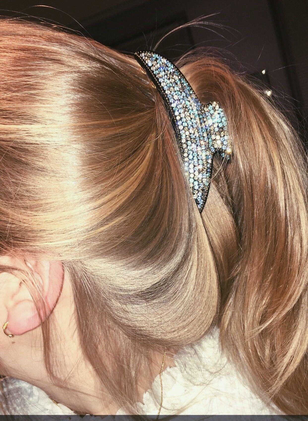 Swarovski hair clip hair pinterest