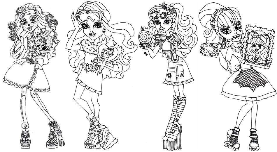 Monster High Coloring Pages and Book | UniqueColoringPages ...