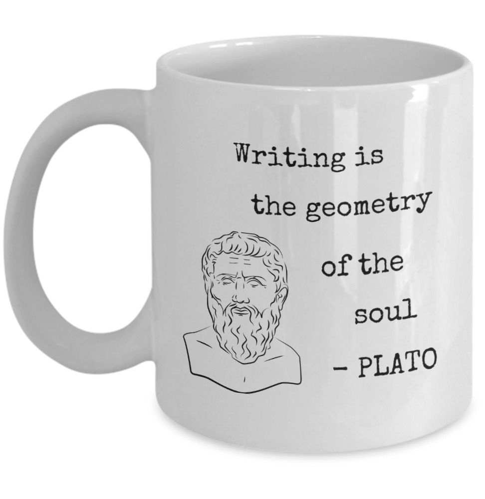 Details about Philosophy mug writing is the geometry of ...