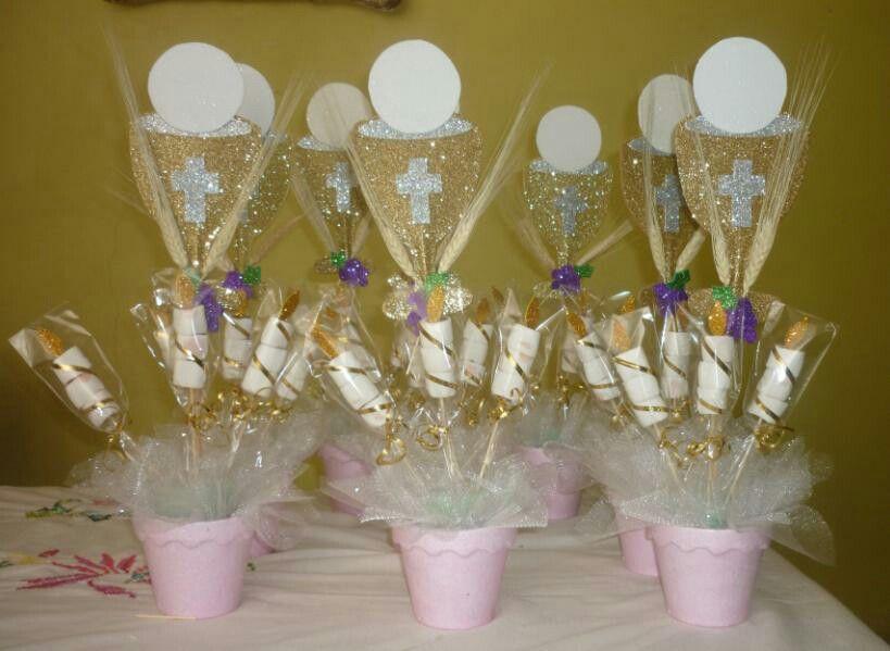 Primera comunion centros de mesa fiestas pinterest - Centros de mesa para comunion ...