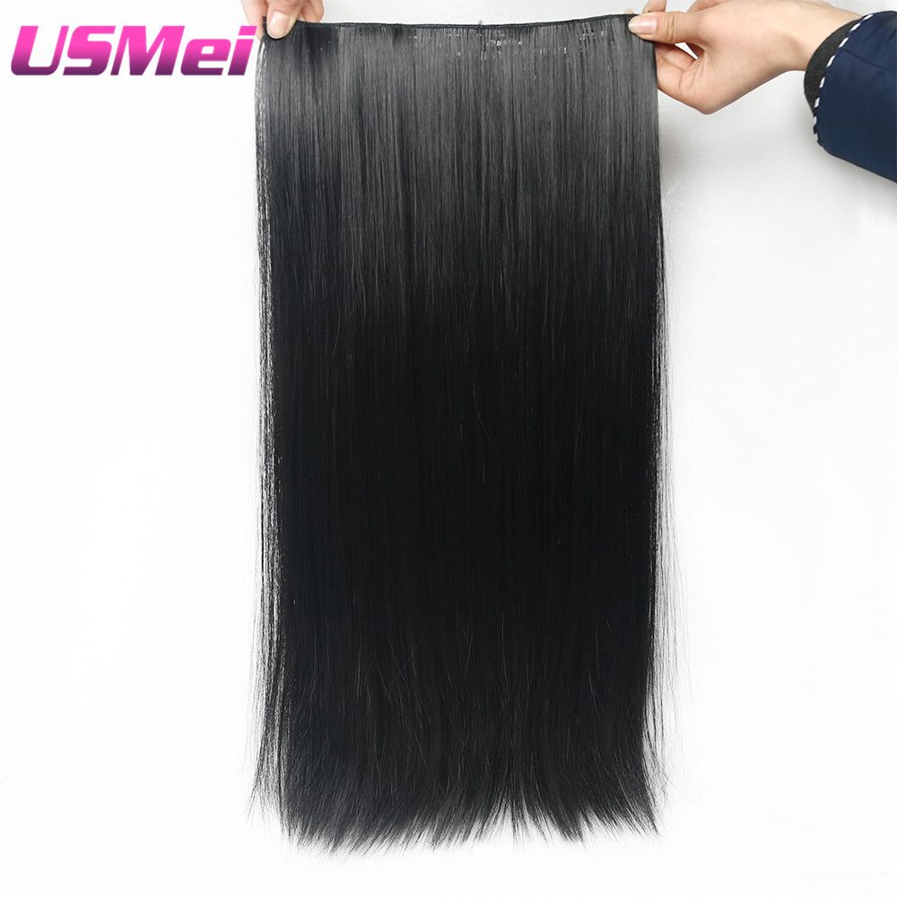 Usmei cm synthetic clip in hair extension heat resistant hairpiece