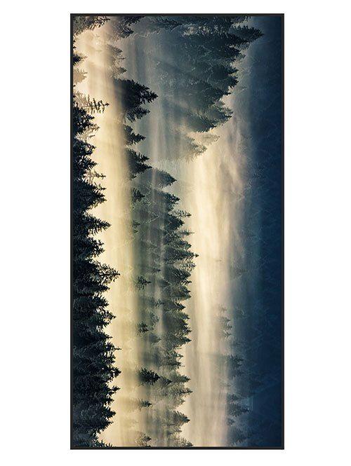 Fog Forest Print Polyester Bath Towel - BLACKISH GREEN W15.5 INCH * L67 INCH