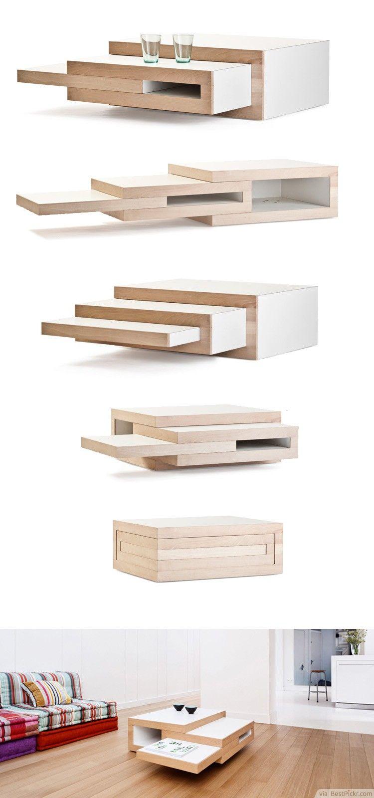 Amazing REK: Expandable Transformer Wooden Coffee Table ❥❥❥ Http://bestpickr. Amazing Design