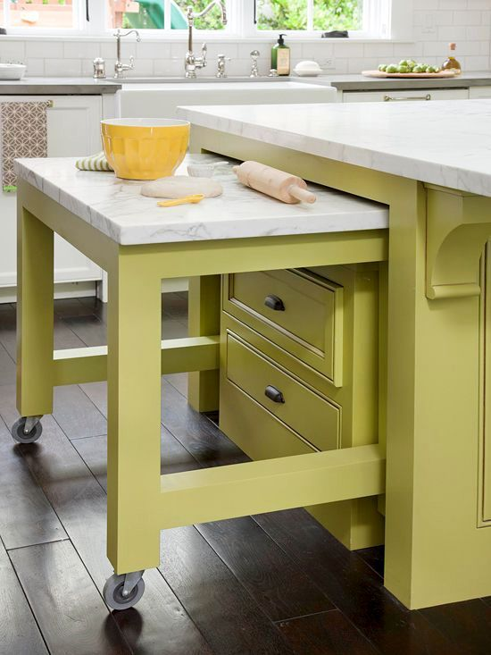 Love the color and love th idea - I am short so a lower work surface is ideal ...
