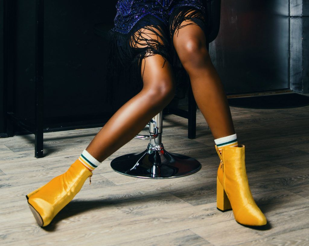 Zlote Buty How To Wear Ankle Boots Yellow Boots Womens Fashion Shoes