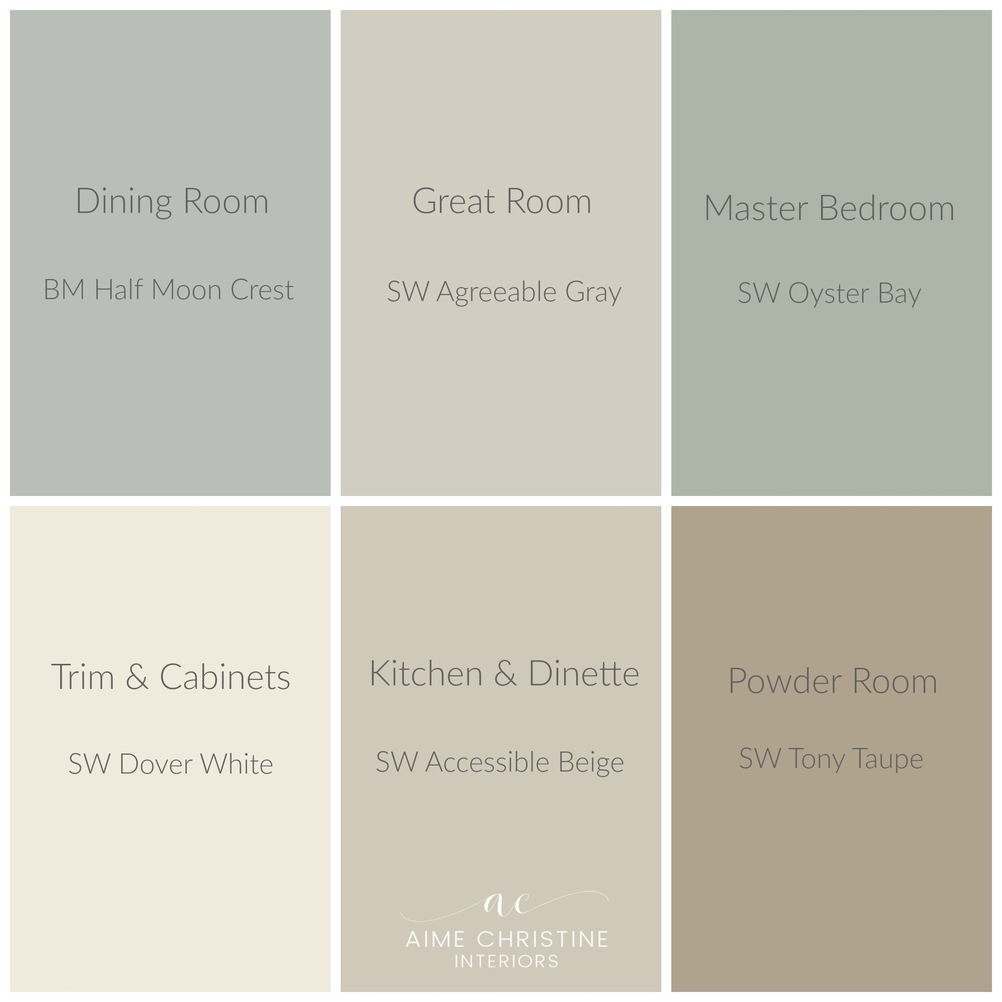Whole house color palette home colors pinterest - Whole house interior paint palette ...