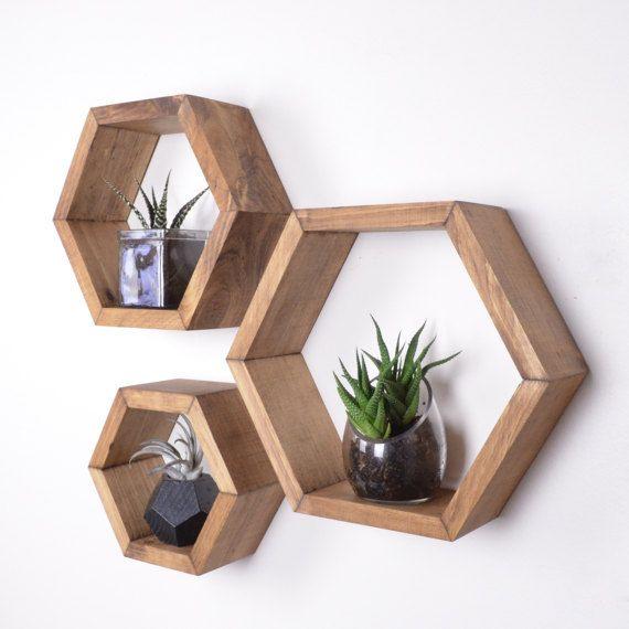 3 Hexagon Shelves Free Shipping Honeycomb Shelves Geodesic