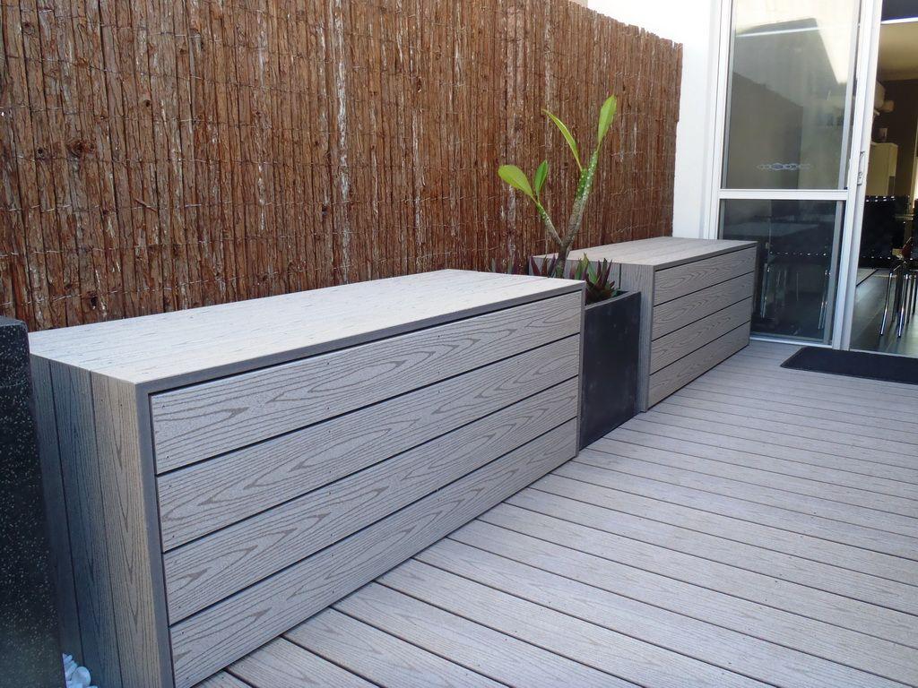 TimberTech ReliaBoard Grey | Outdoor storage bench, Garden ...