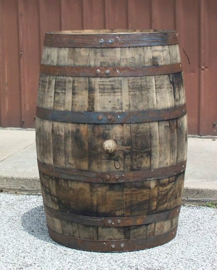 Used Decorative Whiskey Barrel With Free Shipping 48 States Home