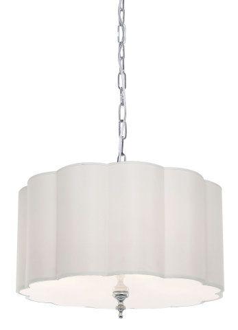24 Scalloped Drum Shade Pendant Large Pendants Ceiling