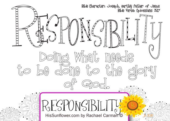 Character Quality: Responsibility Join me each week as we