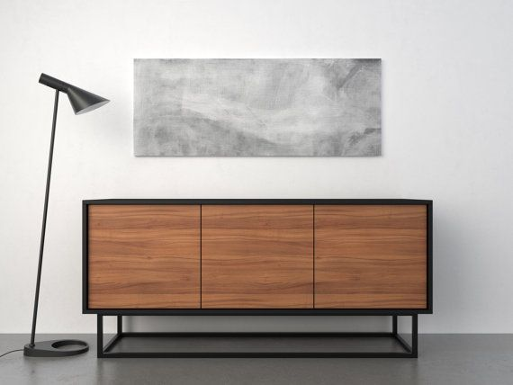 Midcentury modern sideboard walnut and black tv m bel for Designer mobel gebraucht