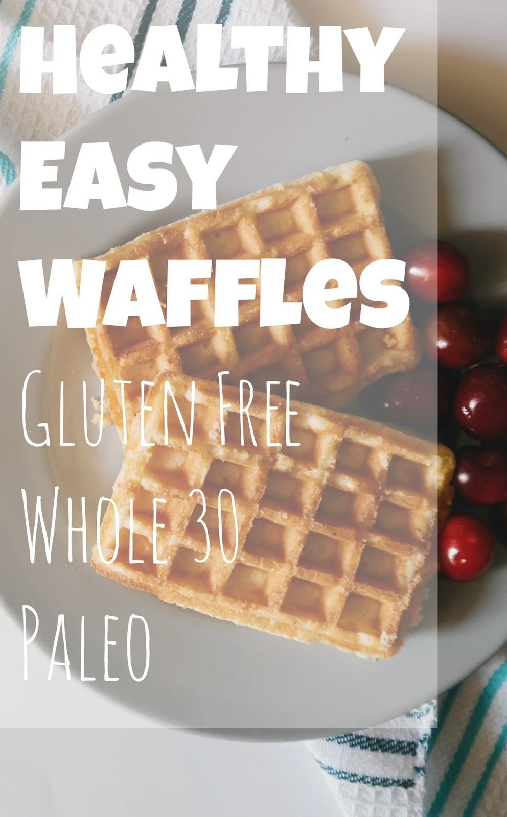 The easiest waffles that are so healthy and delicious! You would never guess they are gluten free and only have 2 ingredients!
