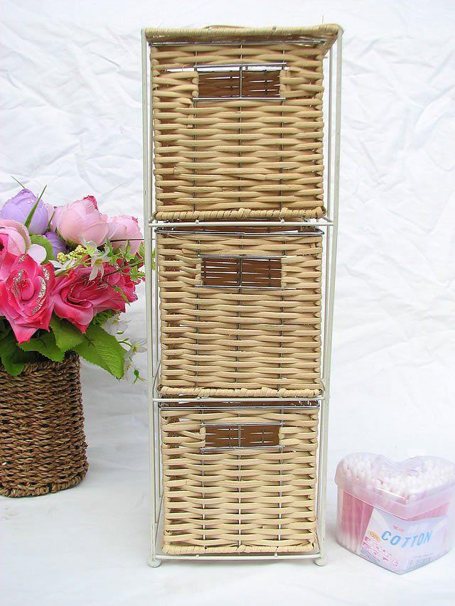 pas cher rustique en rotin en plastique petite armoire de rangement tiroir armoire finition. Black Bedroom Furniture Sets. Home Design Ideas
