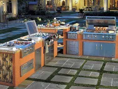 15 id es pour am nager une cuisine d 39 t l 39 ext rieur cuisine pinterest coin du jardin. Black Bedroom Furniture Sets. Home Design Ideas
