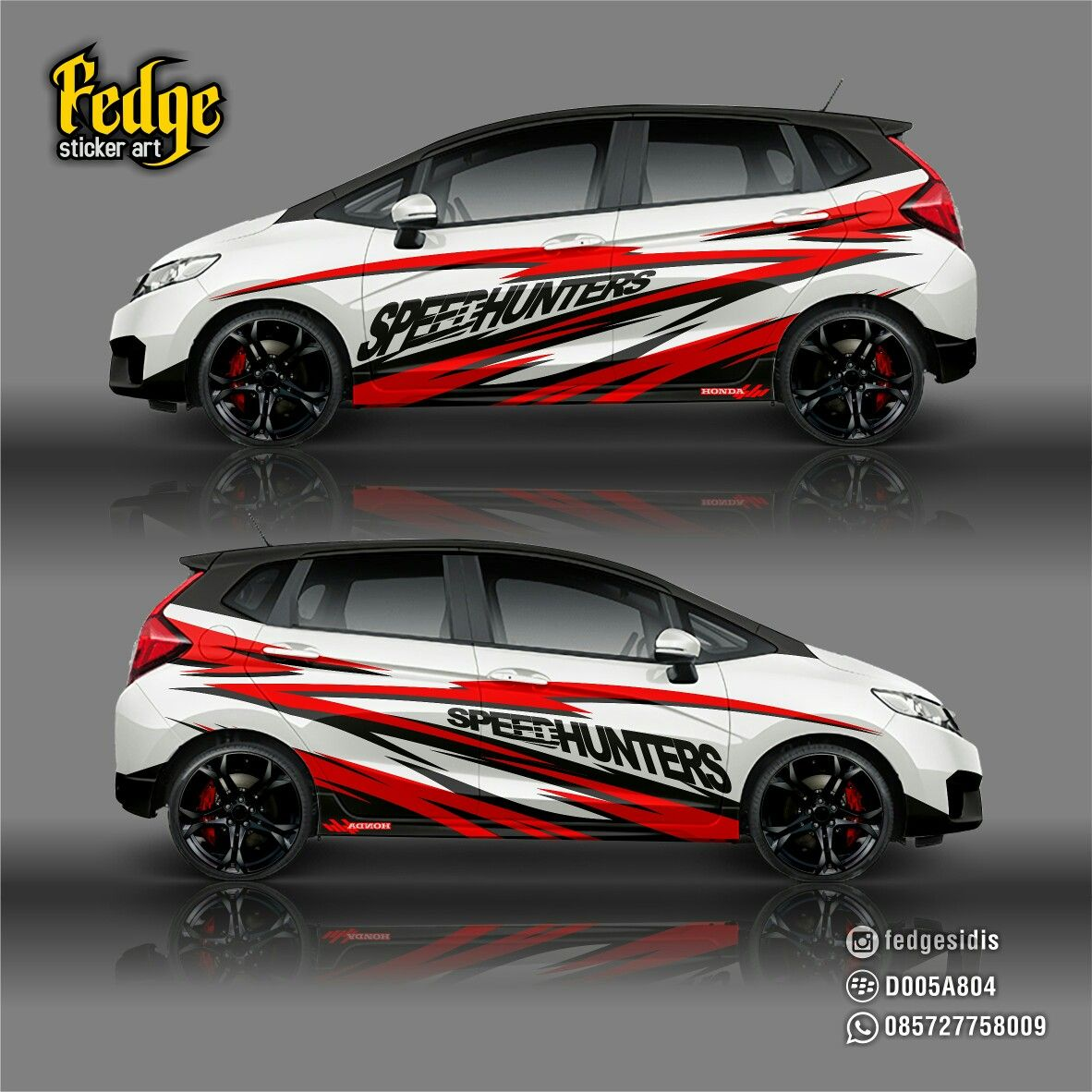 Wrap design for honda jazz 2016 original design by alip yuli fedge
