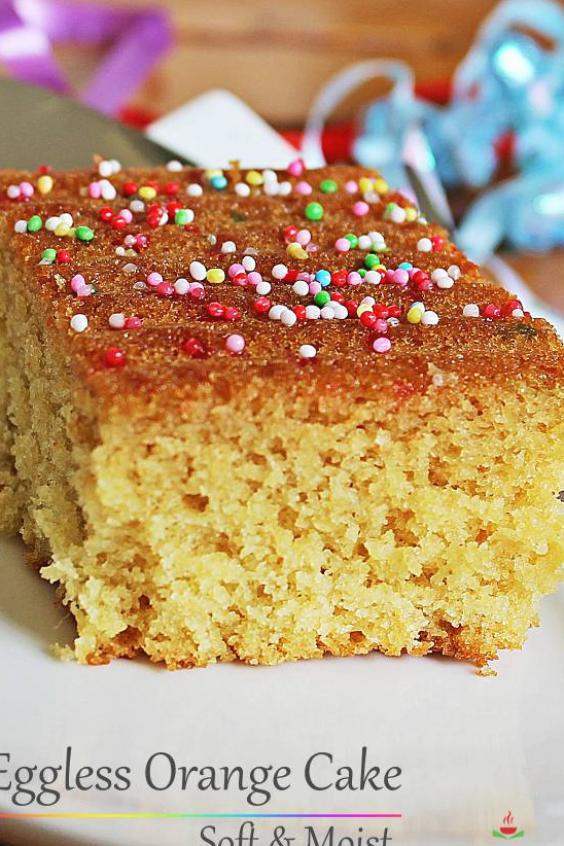Eggless Orange Cake Recipe With Step By Step Photos Soft Moist Delicious Eggfree Orange Flavored Cake It In 2020 Orange Cake Recipe Eggless Orange Cake Orange Cake