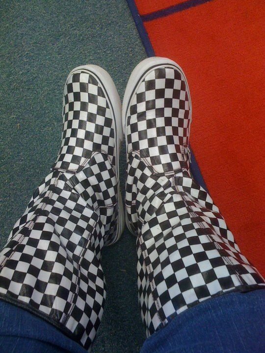 4d9ca6226d Vans checkered rain boots. I love my pair   wearing these in the rain is so  much fun.
