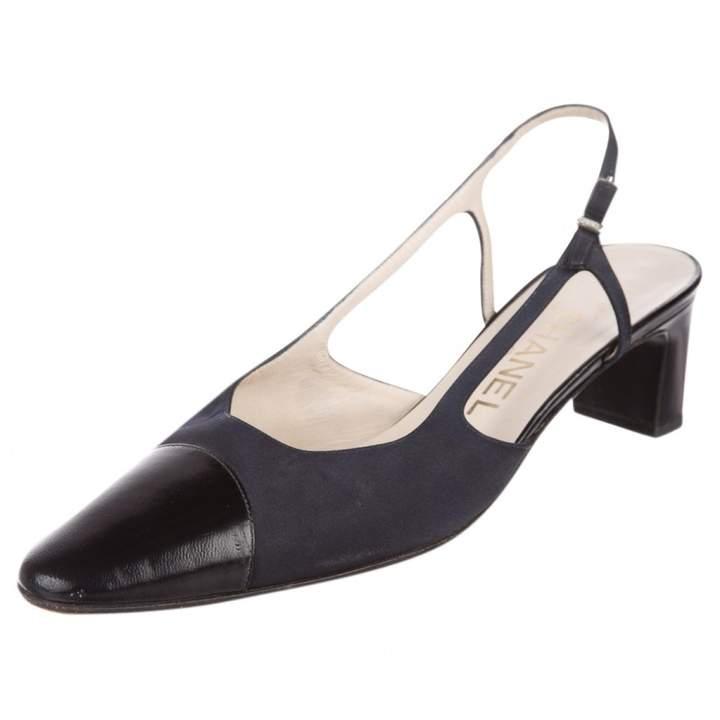 1a255fd58f Chanel Slingback cloth heels | Products | Chanel heels, Shoes, Heels