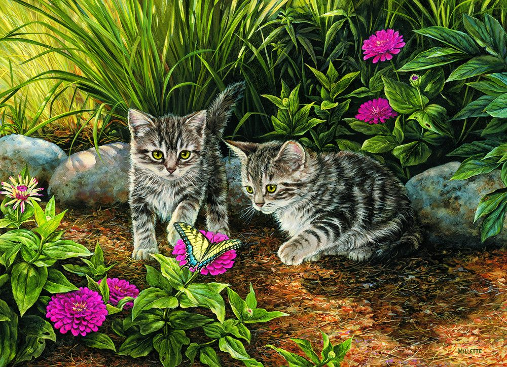 Мир паззлов: кошки