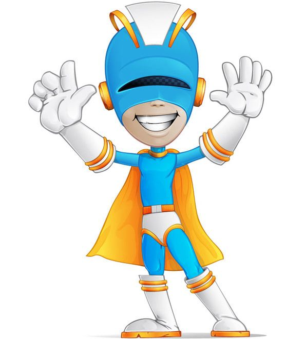 Superhero Character Free Vector | Free Vectors | Superhero