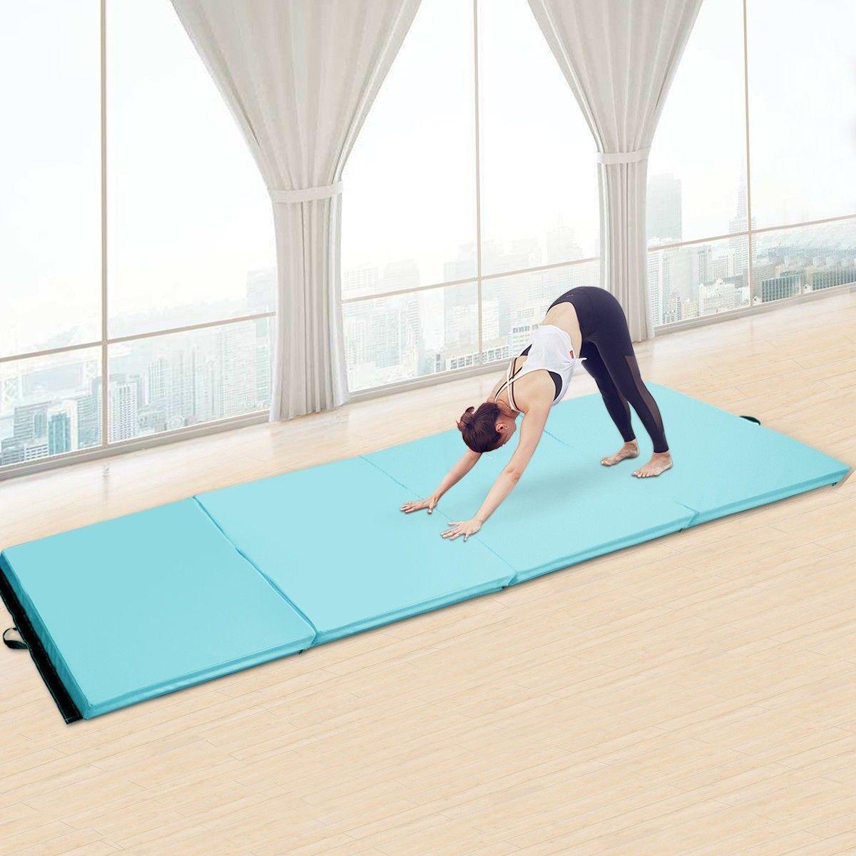 4 X 10 X 2 Thick Folding Panel Aerobics Exercise Gymnastics Mat Gymnastics Mats Aerobics Gymnastics Gym