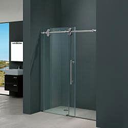 Vigo 72 Inch Frameless Sliding Glass Shower Door Shower Sliding