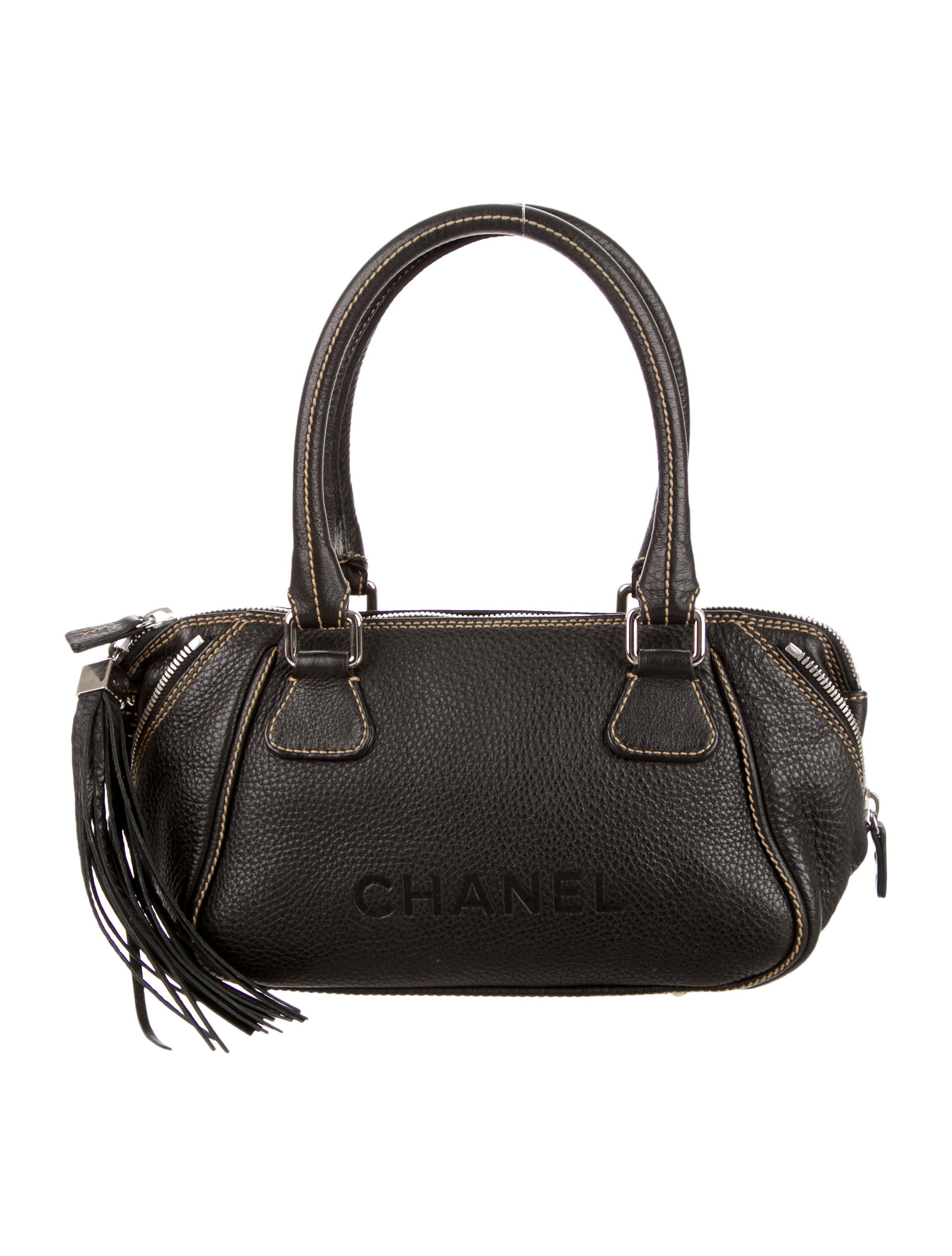 0824f3791f33 Chanel Small Lax Tassel Bag - Black leather Chanel Small Lax bag with silver -tone