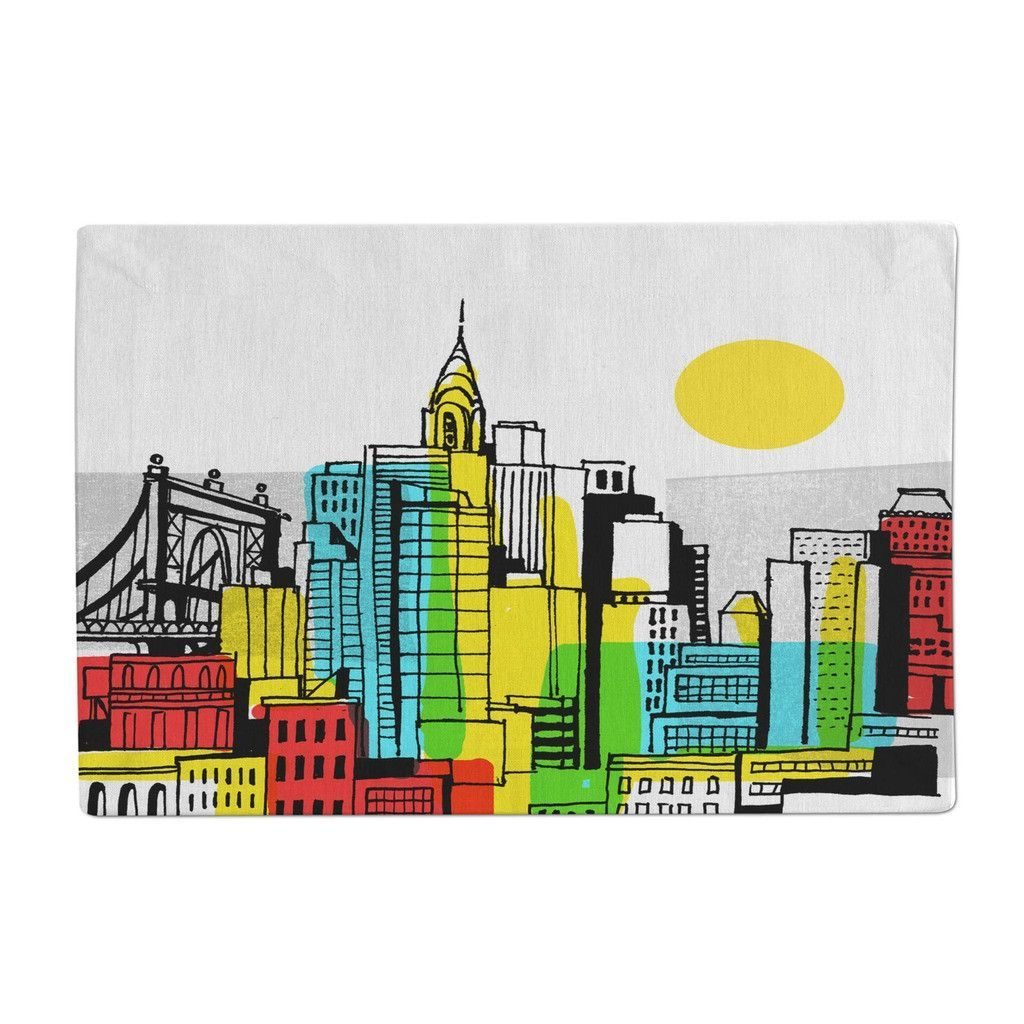 Color block cityscape products pinterest products