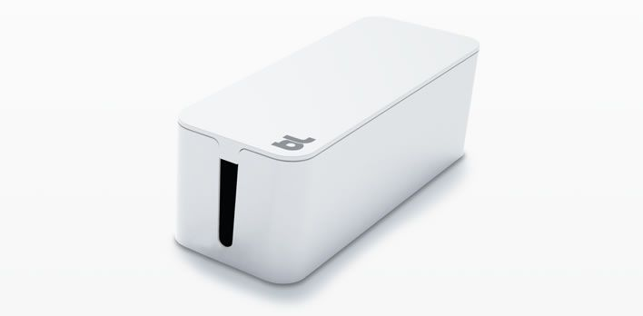 Cablebox...fits most sized powerbars - then has room for the extra cords!