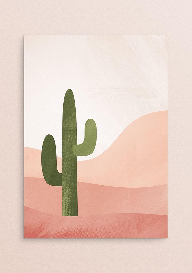 Photo of Printable Desert Wall Art – Cactus Print, Pink Southwestern Decor, Desert Print, Apartment Decor, Be