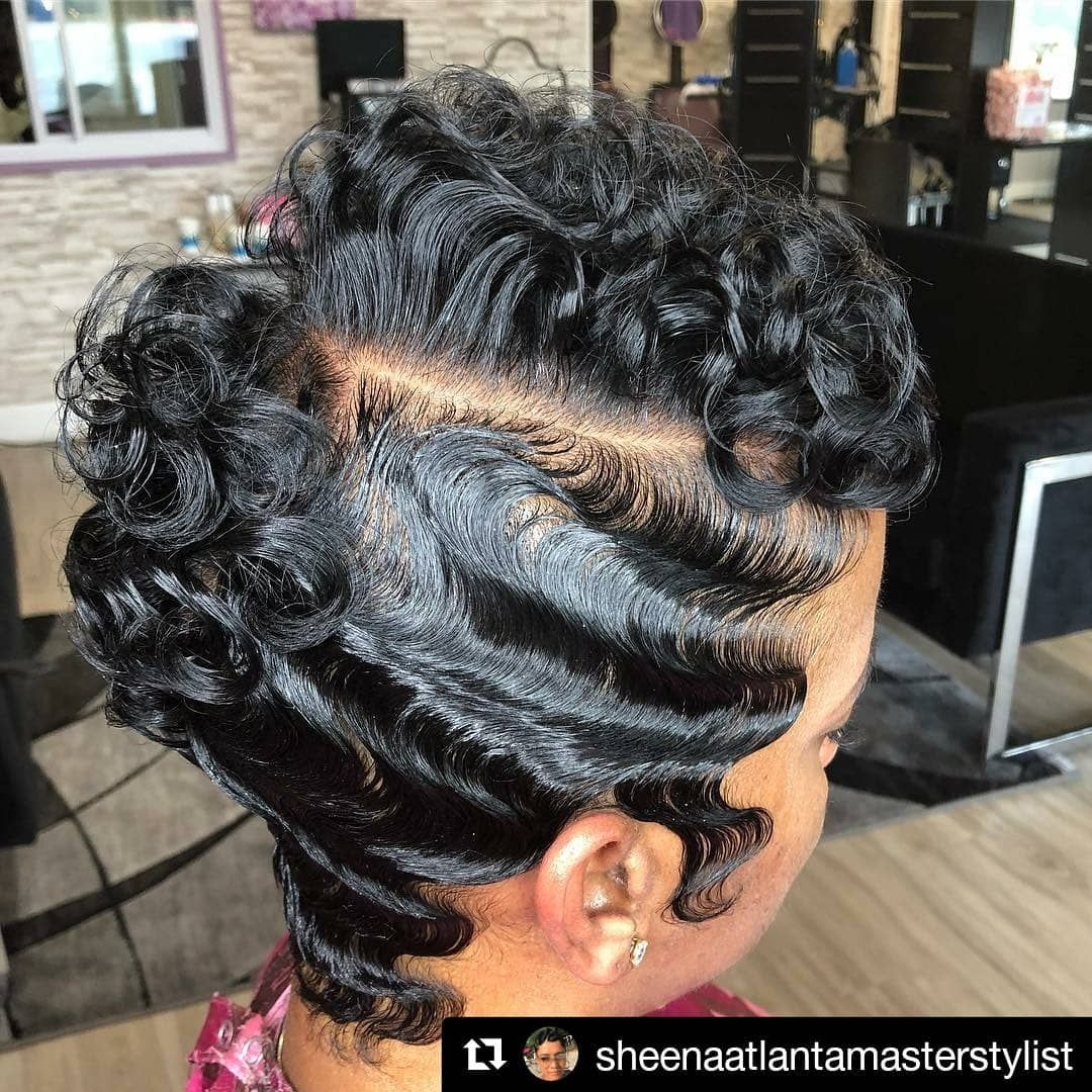 Style From Sheenaatlantamasterstylist Of Sheena Atlanta Master Stylist In Marietta Georgia Repost Sheenaa Black Hair Salons Short Wedding Hair Hair Styles