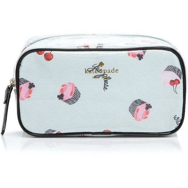 Kate Spade New York Magnolia Bakery Ezra Cosmetic Case Found On Polyvore Featuring Beauty Products Accessories Bags Cases Green Dop Kit