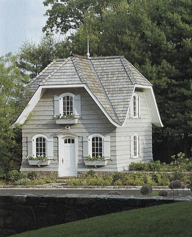 Small Guest Cottage: Shutters + Flower Boxes