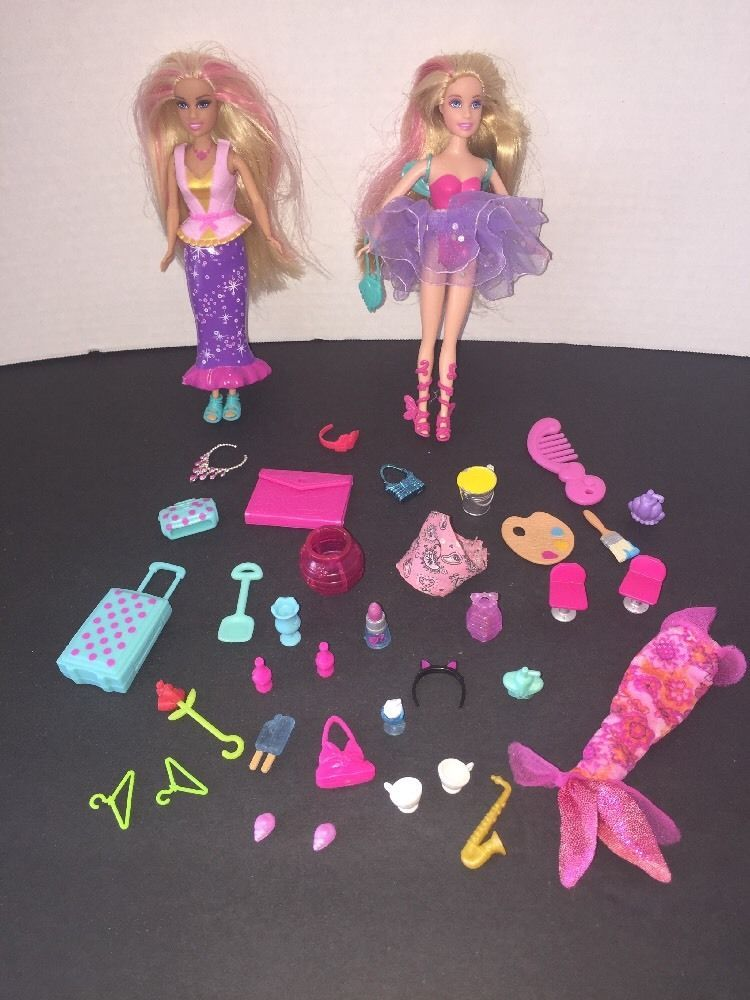 Mattel 6 034 Barbie Doll Amp Accessory Lot 1999 2008 Click On Clothes Etc Ebay Barbie Doll Accessories Barbie Dolls Mattel Barbie