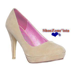 494c69d7c29a 11405 Womens Nude Suede Effect Court Shoe £14.99 www.shoezone.com  womens   ladies  spring  summer  court  shoes  nude  platform  style  fashion