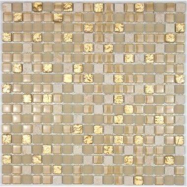 carrelage mosaique verre et pierre 1 plaque havanna 9,90? | salle ... - Plaque Mosaique Salle De Bain