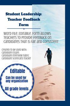Candidate Evaluation Form Teacher Feedback  Teacher
