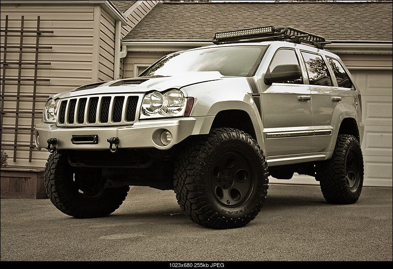 Roof basket with light bar Jeep grand cherokee, Jeep