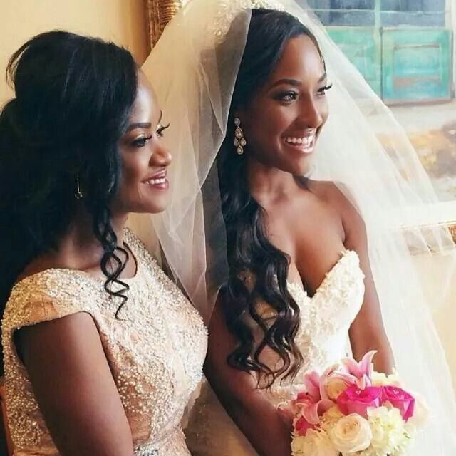 Wedding Hairstyles African American Brides: Beautiful Mother And Daughter.. Wow They Look Like Sisters
