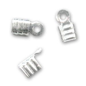 Pince lacet plat 3 mm en Argent 925 x10 : Pince lacet plat en Argent Sterling 925. Idéal pour recevoir des lacets de diamètre compris entre 2.5 mm et 3.5 mm. XXXXXXXXXXXXXXXXXX