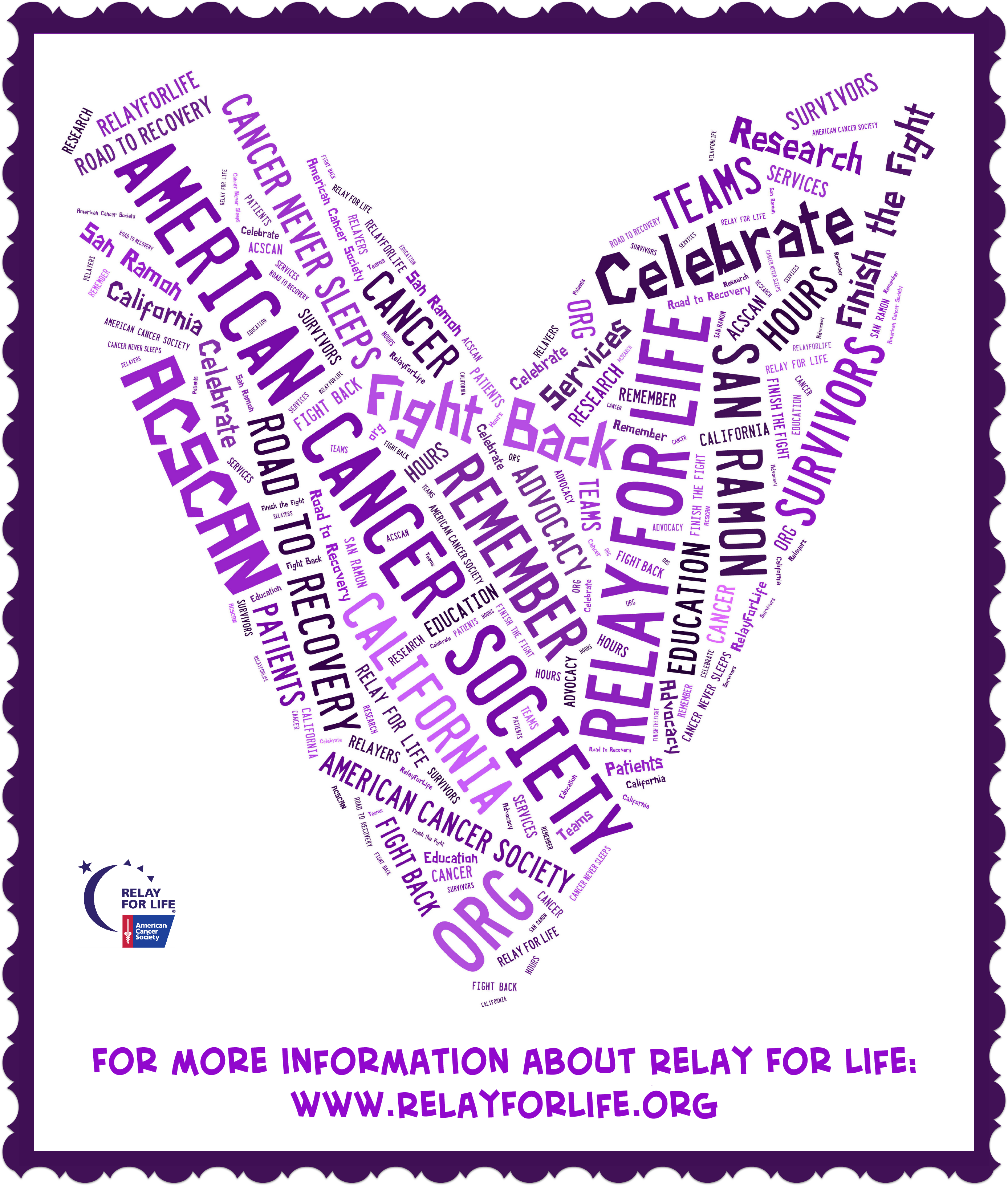 Relay Profile Picture For February Relay Relay For Life Life Words